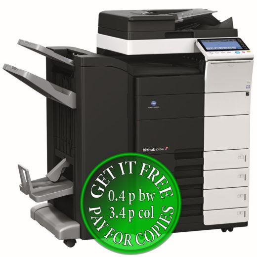 Colour Copier Lease Rental Offer Konica Minolta Bizhub C454e DF 701 FS 534 SD 511 PC 210 Left bundle