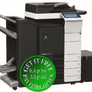 Colour Copier Lease Rental Offer Konica Minolta Bizhub C554e DF 701 FS 534 SD 511 PC 210 LU 301 WT 506 Left