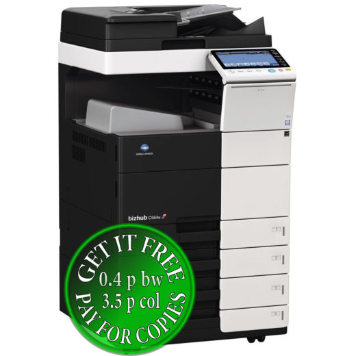 Colour Copier Lease Rental Offer Konica Minolta Bizhub C554e OT 506 PC 210 Left