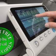 Colour Copier Lease Rental Offer Konica Minolta Bizhub C654e Panel Side Touch Control