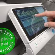 Colour Copier Lease Rental Offer Konica Minolta Bizhub C284 Panel Side Touch Control