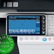 Colour Copier Lease Rental Offer Konica Minolta Bizhub C454 Panel Opened Overhead