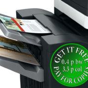 Colour Copier Lease Rental Offer Konica Minolta Bizhub C454 Paper Output Finisher Left