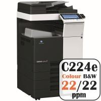 Colour Copier Lease Rental Offer Konica Minolta Bizhub C224e 22 ppm