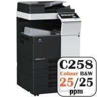 Colour Copier Lease Rental Offer Konica Minolta Bizhub C258 25 ppm