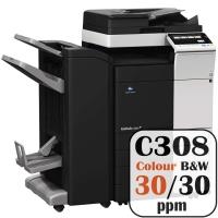 Colour Copier Lease Rental Offer Konica Minolta Bizhub C308 30 ppm