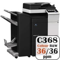 Colour Copier Lease Rental Offer Konica Minolta Bizhub C368 36 ppm