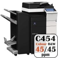 Colour Copier Lease Rental Offer Konica Minolta Bizhub C454 45 ppm