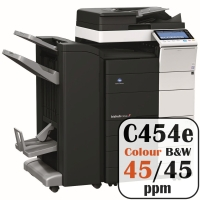 Colour Copier Lease Rental Offer Konica Minolta Bizhub C454e 45 ppm