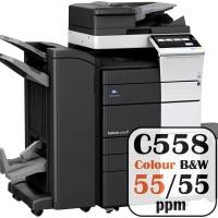 Colour Copier Lease Rental Offer Konica Minolta Bizhub C558 55 ppm