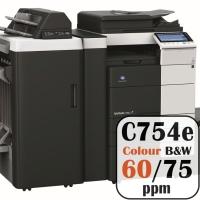Colour Copier Lease Rental Offer Konica Minolta Bizhub C754e 75 ppm