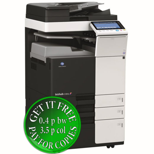 Colour Copier Lease Rental Offer Konica Minolta Bizhub C364e DF 624 JS 506 PC 410 Left