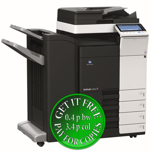Colour Copier Lease Rental Offer Konica Minolta Bizhub C364e DF 701 FS 534 PC 210 Left bundle