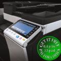Colour Copier Lease Rental Offer Konica Minolta Bizhub C554e Panel Closeup Sideview