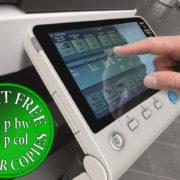 Colour Copier Lease Rental Offer Konica Minolta Bizhub C554e Panel Side Touch Control