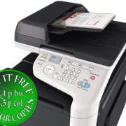 Colour Copier Lease Rental Offer Konica Minolta Bizhub C3110 Panel Document Feeder With Paper Left