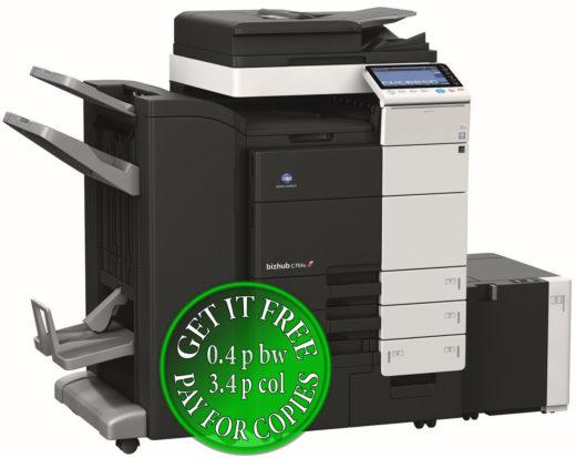 Colour Copier Lease Rental Offer Konica Minolta Bizhub C754e FS 534 SD 511 LU 301 Left