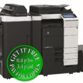 Colour Copier Lease Rental Offer Konica Minolta Bizhub C754e Mainbody ZU 606 FS 535 PI 505 LU 204 Left