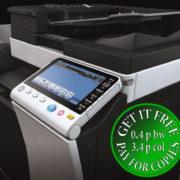 Colour Copier Lease Rental Offer Konica Minolta Bizhub C754e Panel Closeup Sideview