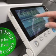 Colour Copier Lease Rental Offer Konica Minolta Bizhub C754e Panel Side Touch Control