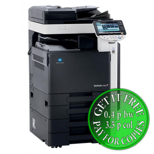 Colour Copier Lease Rental Offer Konica Minolta Bizhub C220