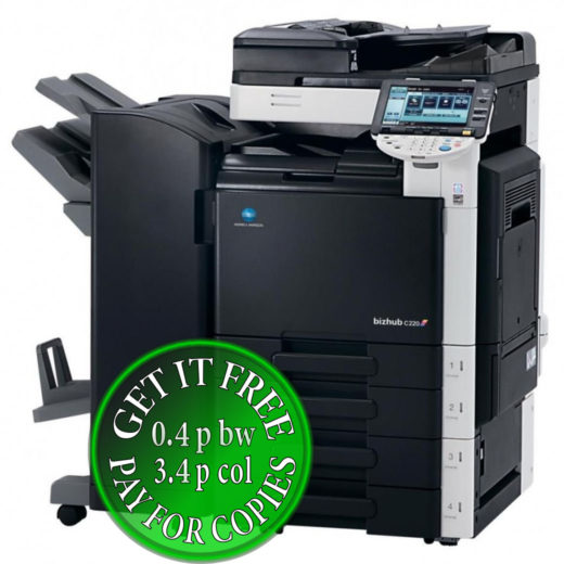 Colour Copier Lease Rental Offer Konica Minolta Bizhub C220 FS-527 SD-509 DF-617 bundle