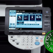 Colour Copier Lease Rental Offer Konica Minolta Bizhub C220 Panel