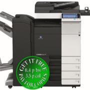 Colour Copier Lease Rental Offer Konica Minolta Bizhub C224 DF 701 FS 534 SD 511 PC 210 WT 506 AU 102 Front