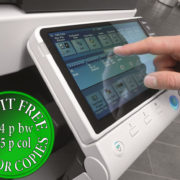 Colour Copier Lease Rental Offer Konica Minolta Bizhub C224 Panel Side Touch Control