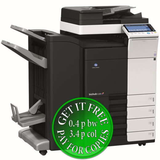 Colour Copier Lease Rental Offer Konica Minolta Bizhub C284 DF 624 FS 534 SD 511 PC 210 Left bundle