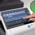 Colour Copier Lease Rental Offer Konica Minolta Bizhub C308 Panel Front Touch Control
