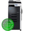 Colour Copier Lease Rental Offer Konica Minolta Bizhub C35 DK P01 2x PF P08 Cabinet Front View