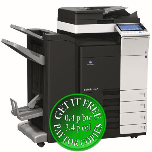 Colour Copier Lease Rental Offer Konica Minolta Bizhub C364 DF 701 FS 534 SD 511 PC 210 Left bundle