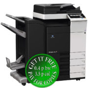 Colour Copier Lease Rental Offer Konica Minolta Bizhub C368 DF 704 FS 534SD PC 210 Left