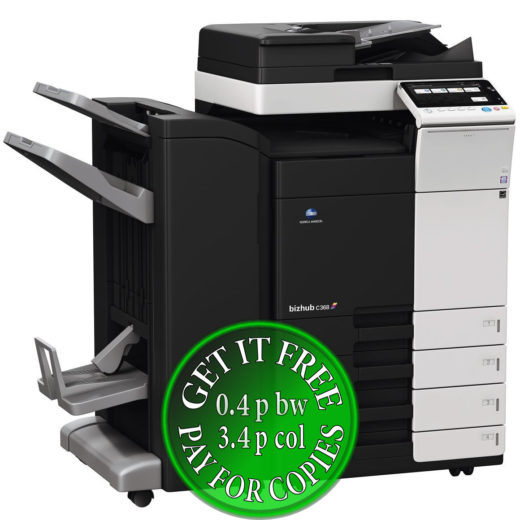 Colour Copier Lease Rental Offer Konica Minolta Bizhub C368 DF 704 FS 534SD PC 210 Left bundle