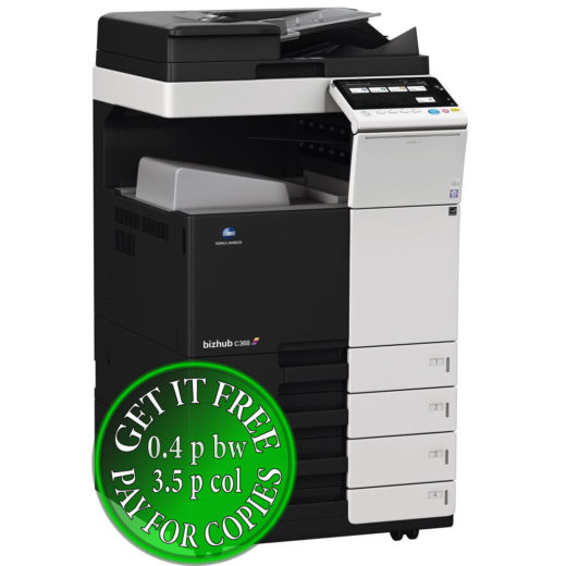Colour Copier Lease Rental Offer Konica Minolta Bizhub C368 DF 704 OT 506 PC 210 Left