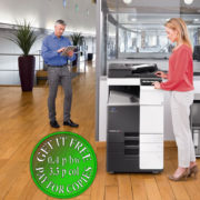 Colour Copier Lease Rental Offer Konica Minolta Bizhub C368 Office 365