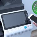 Colour Copier Lease Rental Offer Konica Minolta Bizhub C368 Panel Front Smartphone Control Authentication