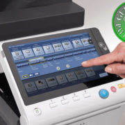Colour Copier Lease Rental Offer Konica Minolta Bizhub C368 Panel Front Touch Control