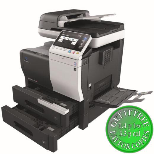 Colour Copier Lease Rental Offer Konica Minolta Bizhub C3850 Open Paper Trays Bypass