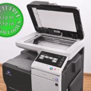 Colour Copier Lease Rental Offer Konica Minolta Bizhub C3850 Panel SideView Cover Open