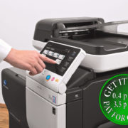 Colour Copier Lease Rental Offer Konica Minolta Bizhub C3850 Panel SideView Touch Panel