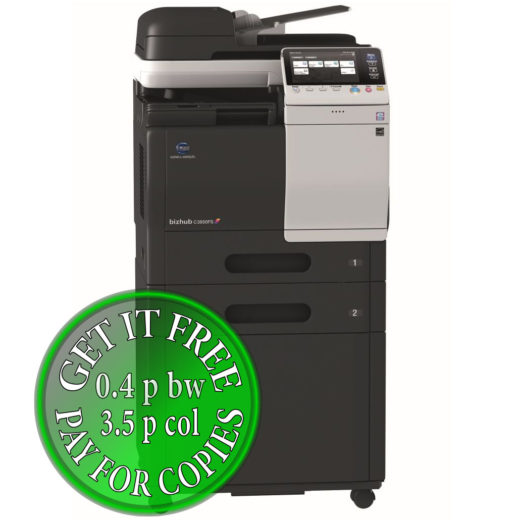 Colour Copier Lease Rental Offer Konica Minolta Bizhub C3850FS Mainbody FP 2xPF P13 DK P03