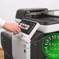 Colour Copier Lease Rental Offer Konica Minolta Bizhub C3850FS Panel SideView Touch Panel