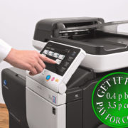 Colour Copier Lease Rental Offer Konica Minolta Bizhub C3850FS Panel SideView Touch Panel