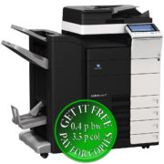 Colour Copier Lease Rental Offer Konica Minolta Bizhub C454 DF 701 FS 534 SD 511 PC 210 Left