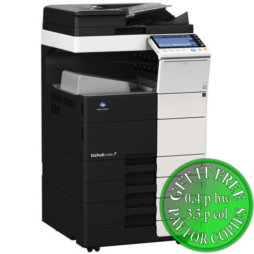 Colour Copier Lease Rental Offer Konica Minolta Bizhub C454 DF 701 OT 506 PC 210 Left