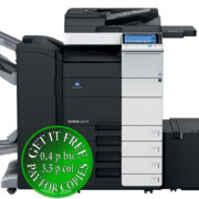 Colour Copier Lease Rental Offer Konica Minolta Bizhub C554 DF 701 FS 534 SD 511 PC 210 LU 301 WT 506 Front