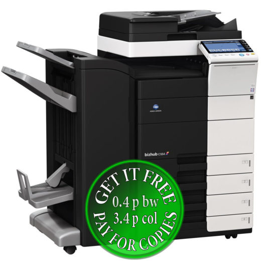 Colour Copier Lease Rental Offer Konica Minolta Bizhub C554 DF 701 FS 534 SD 511 PC 210 bundle