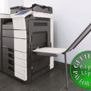 Colour Copier Lease Rental Offer Konica Minolta Bizhub C554 Office Finisher Banners Printing